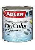 ADLER Varicolor 2in1 Acryl Buntlack für Innen und Außen - 125 ml 1/8 Liter Weiß Weiß - Wetterfester Lack und Grundierung - matt